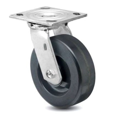 "Superior Brand, Durable Swivel Plate Caster 6"" x 2"" Phenolic Wheel (4"" x 4-1/2"" Plate) (One)"
