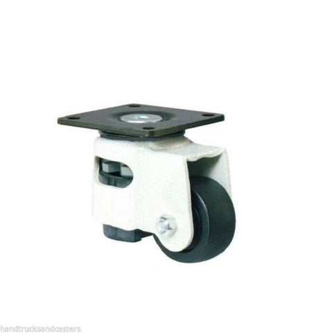 "Trio Pines, Swivel Leveling Caster 1-3/4"" Hard Wheel Square Top Plate / 600# Cap."