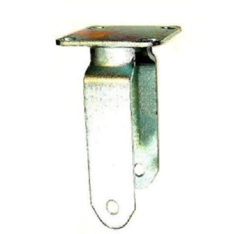 "Superior Brand, Rigid Caster Fork for 10"" x 3-1/2"" Wheel with 4"" x 4-1/2"" Plate"