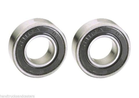 Load Wheel Bearing, (Pack of 2) Pallet Jack Load Wheel 47mm OD x 25mm ID x 15mm Thick Ball Bearings