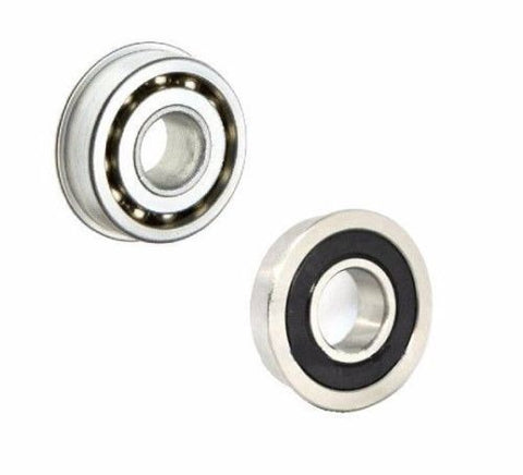 "Colson, Soft Steel Flanged Ball Bearing 1-1/8"" OD x 1/2"" ID Lawn Mowers (Pack of 2)"