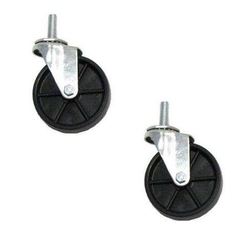 "Superior Brand,  (2) Swivel Caster 4"" x1"" Hard Wheel w 1/2"" -13 x 1-1/2"" Threaded Stems"