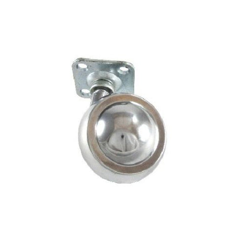 "Satellite Series, Satellite Bright Chrome 2"" Swivel Ball Caster with 1-1/2"" Square Top Plate"