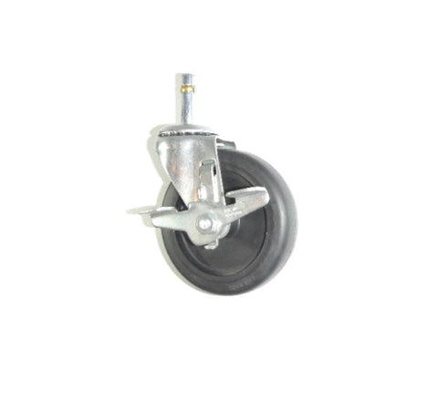 "Utility,  Swivel Stem Caster 4"" Hard Wheel 7/16"" Grip Ring Hard Surface Rated"