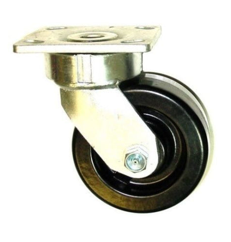 "Contender, 110 Series Swivel Caster 5"" x 2"" Phenolic Wheel 4"" x 4-1/2"" Plate 1000 Cap# One"