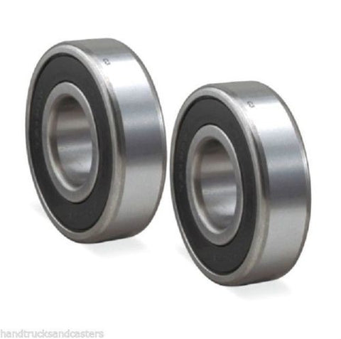 Load Wheel Bearing, (2) Pallet Jack Load Wheel 47mm OD x 25mm ID x 15mm Thick Ball Bearings