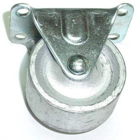 "Superior Brand, Low Overall Height Rigid Plate Caster 2""x7/8"" Steel Wheel (2-1/2""x1-7/8"" Plate)"