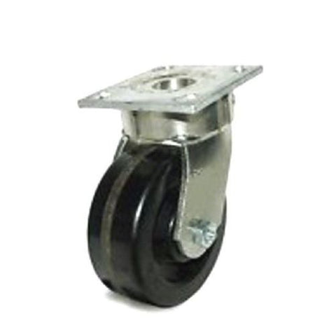"Contender Brand, Heavy Duty Swivel Caster 4"" x 2"" Phenolic Wheel 4"" x 4-1/2"" Plate 1000 Cap# One"