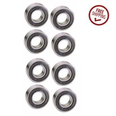 Med-Caster, [Set of 8] Stainless Steel Precision Ball Bearings 17mm ID x 40mm OD x 12mm Wide