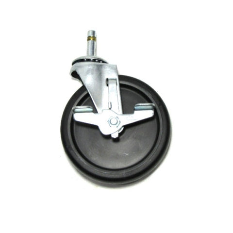 "DuraStar, Swivel 5"" x 1"" Polyolefin Wheel Caster and 7/16"" x 1"" Grip Ring Stem"