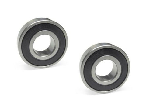 "[Pack of 2] Chrome Sealed Ball Bearing 15mm ID x 1-3/8"" OD (6202RS)"