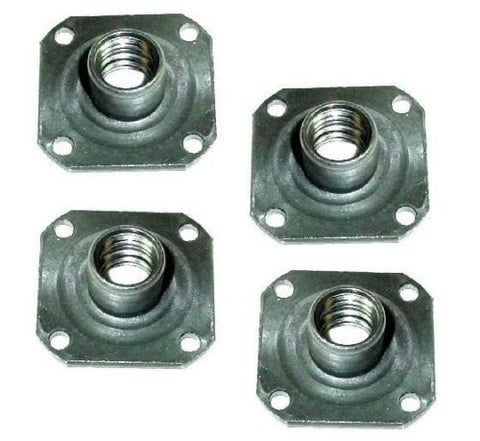 "All Glide, [4] T-Nut Weld-on with 1-3/8"" x 1-3/8"" Square Base and 1/2""- Threaded Stem"