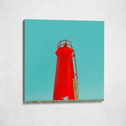 Monochrome Hub-LIGHTHOUSE-RED--canvas-Monochrome Hub-Gallery for Fine Art Photography