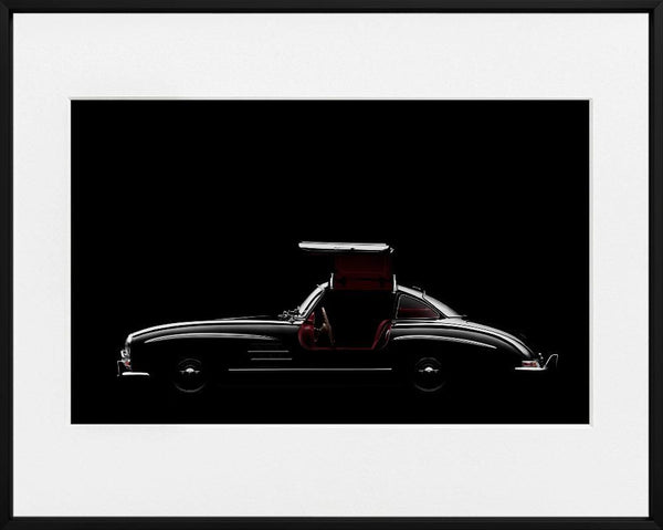 Ivo Ivanov-MERCEDES BENZ 300SL-SIDE--limited editions-Monochrome Hub-Gallery for Fine Art Photography