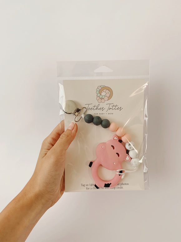 Pink Cow + Clip