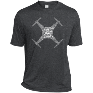 Men's Moisture-Wicking T-Shirt — Drone Industry Word Cloud