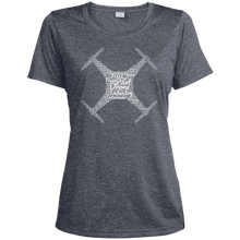 Load image into Gallery viewer, Women's Moisture-Wicking T-Shirt — Drone Industry Word Cloud