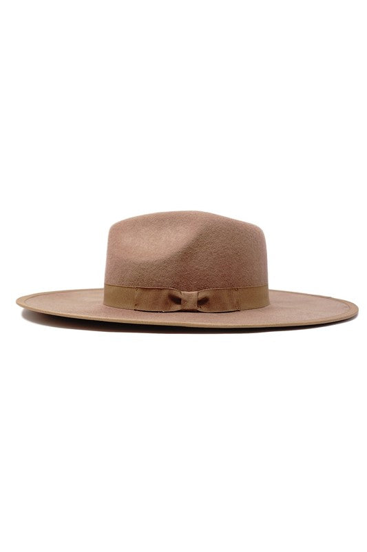 RESTOCK Scottie Stiff Brim Hat - Tan