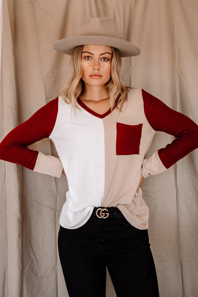 The Jaxx Colorblock Top | 3 Colors