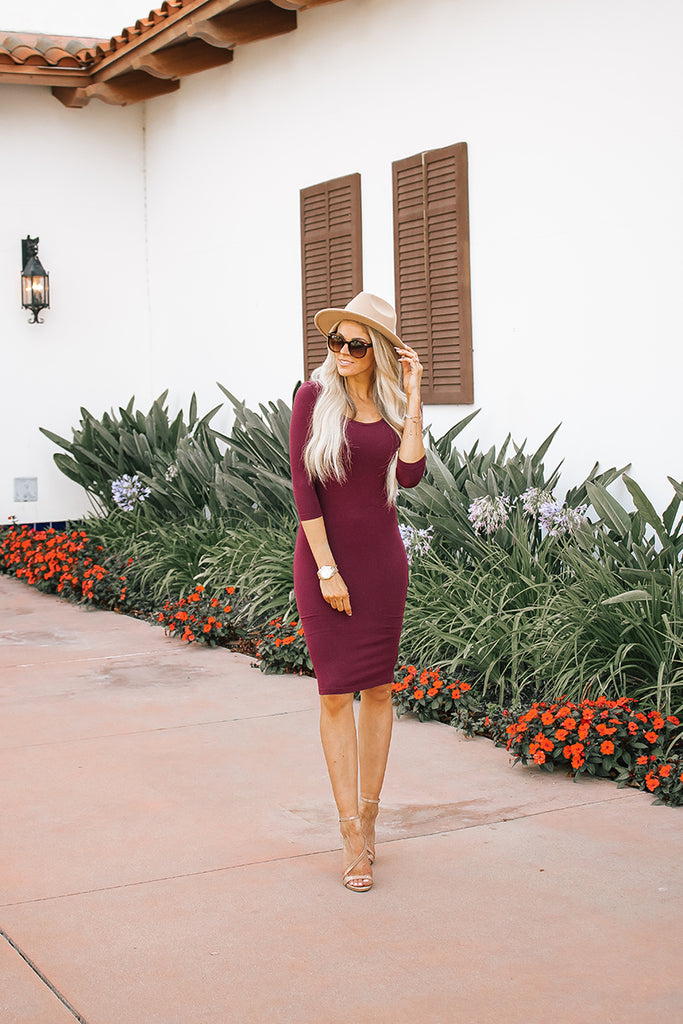 The Demi Dress - Burgundy