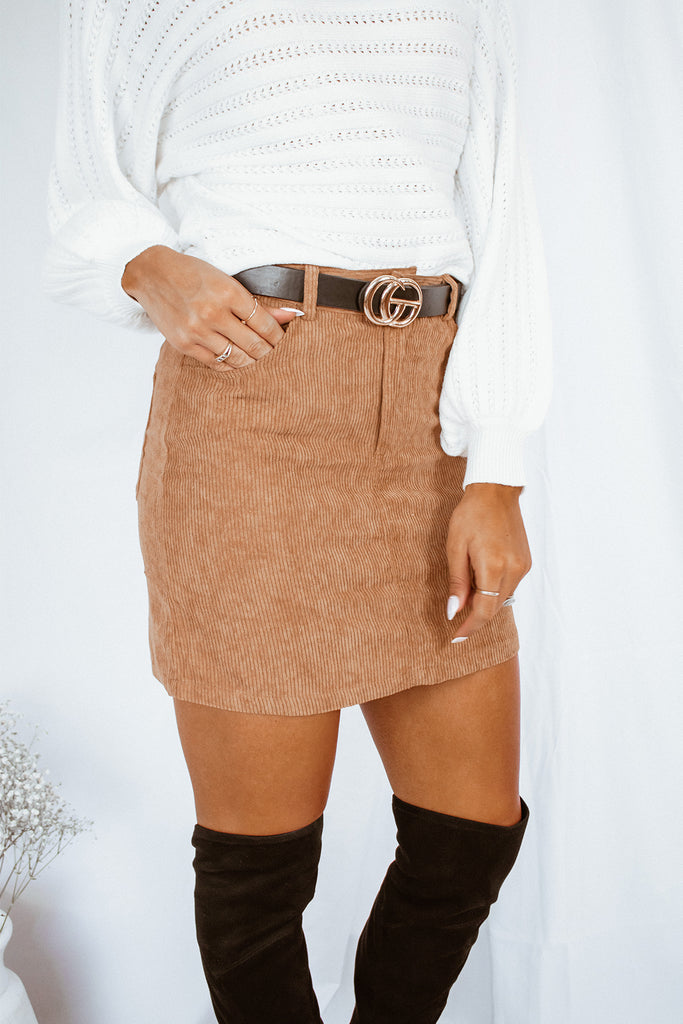 Back To You Corduroy Skirt