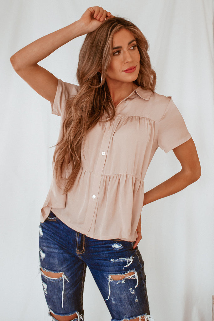 The Louise Button Top