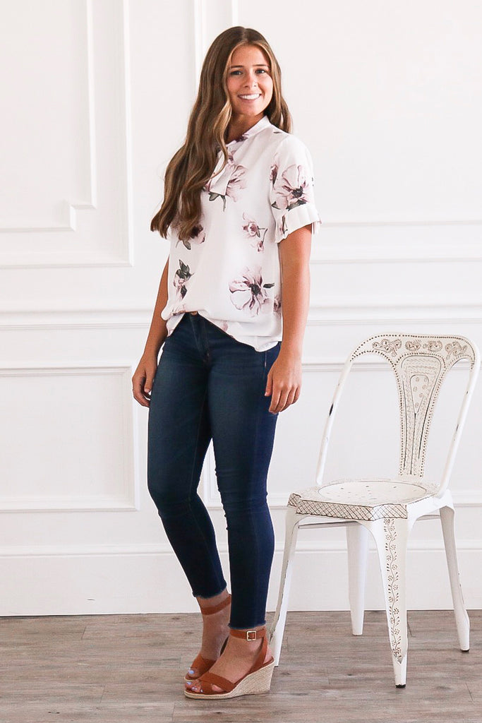 The Magnolia Floral Top