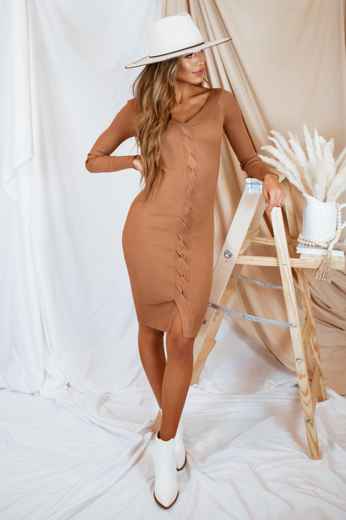 The Oakley Midi Dress - Deep Khaki