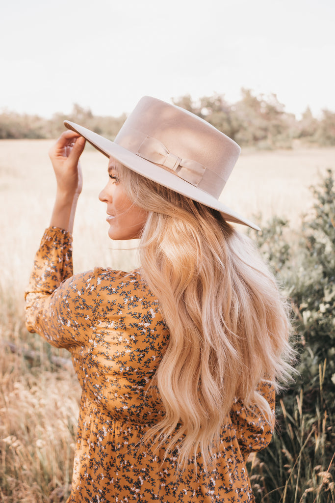 Monroe Wide Brim Hat - Desert Blush