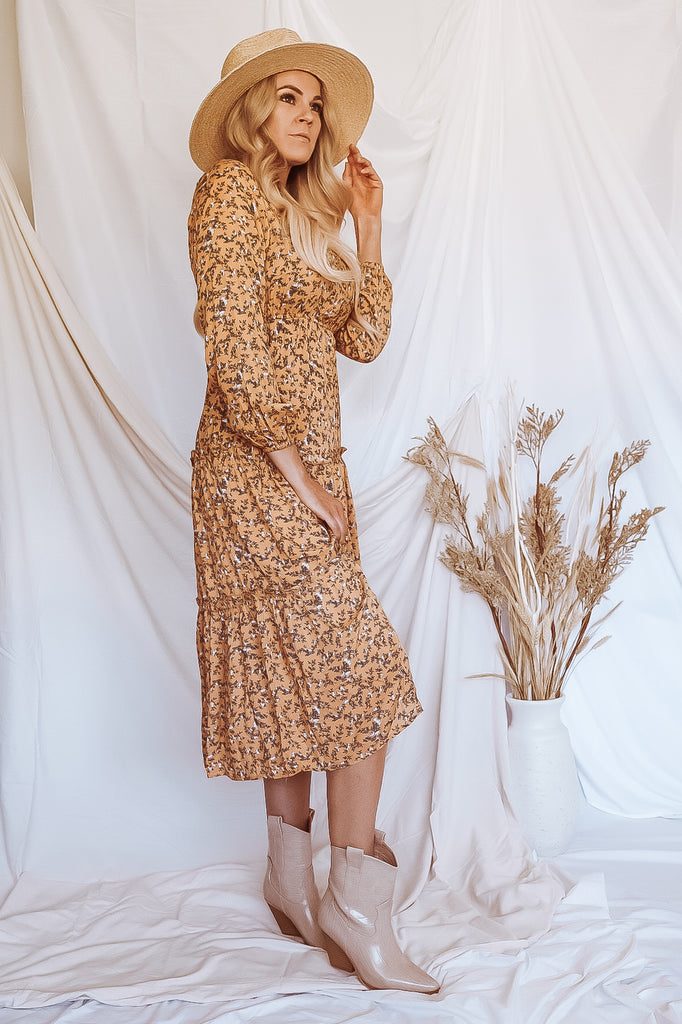 Field of Flowers Midi Dress
