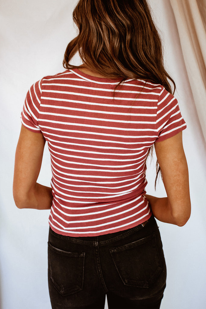 Stripe Me Away Top