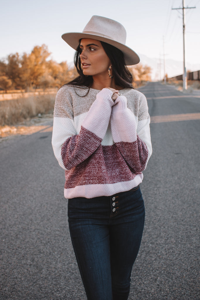 The Wren Colorblock Sweater