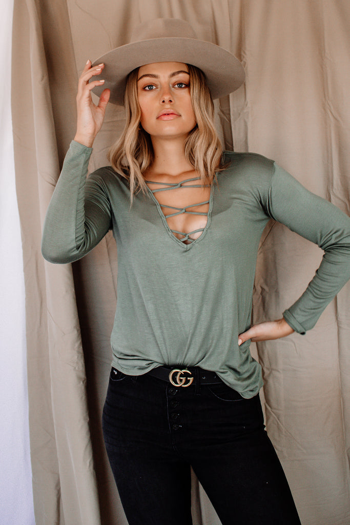 The Dawson Criss Cross Top | 2 Colors