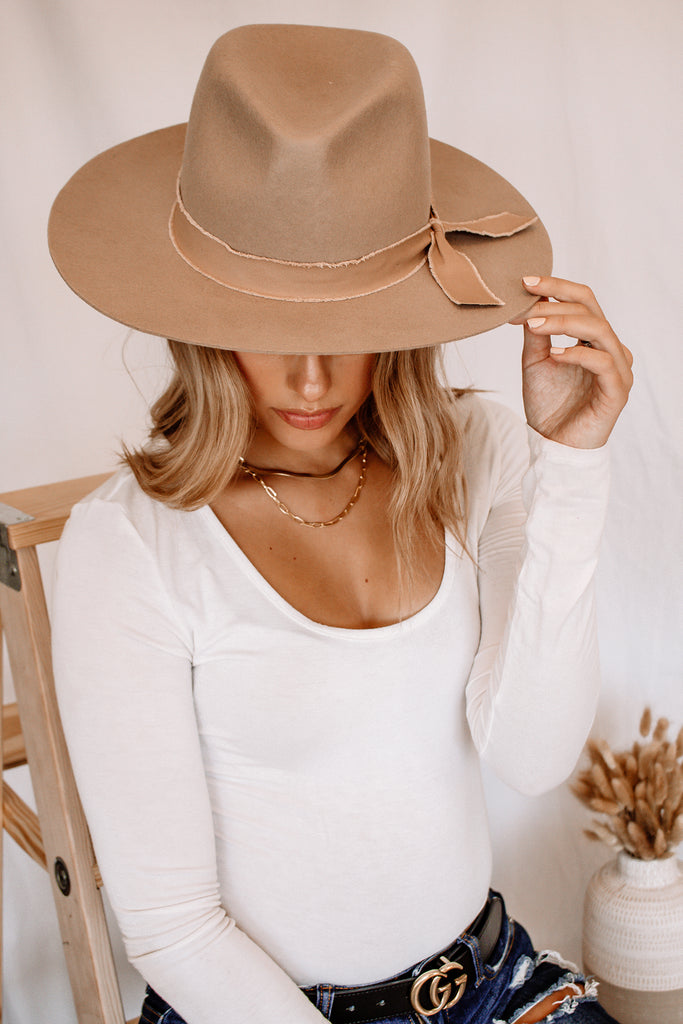 June Panama Hat - Taupe