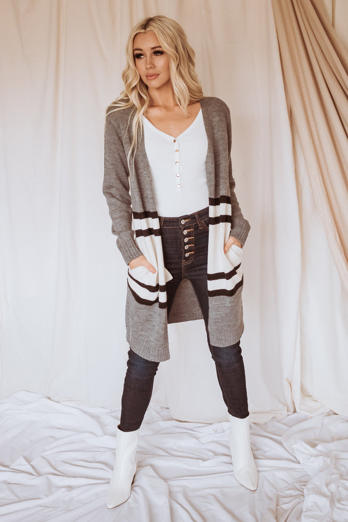 Street Lights Colorblock Cardigan