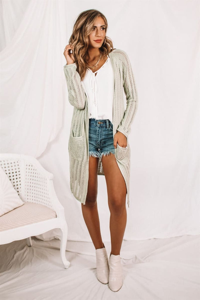 Lexi Lightweight Ribbed Duster