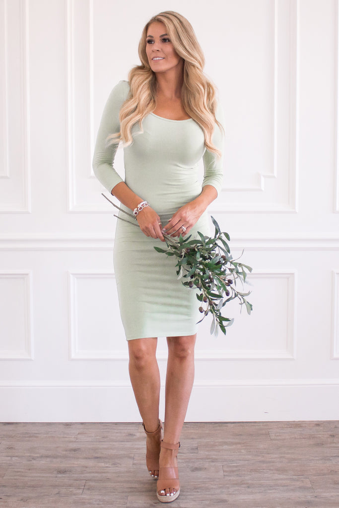 The Demi Dress - Sage