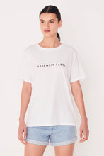 Assembly Label - Logo Cotton Crew Tee, White