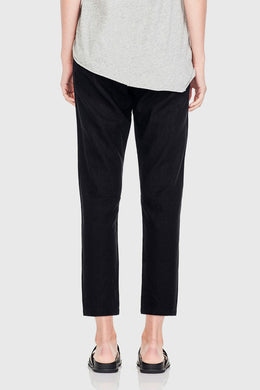 Commoners - Womens Linen Pant, Black