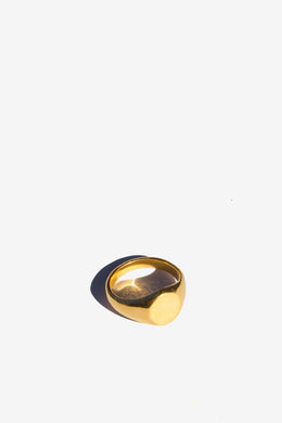 Flash Jewellery - Classic Signet Ring, Gold