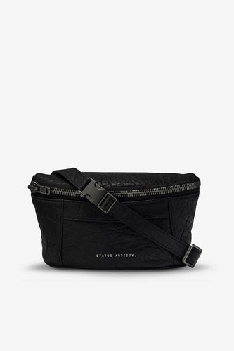 Status Anxiety - Best Lies Bum Bag, Black Bubble