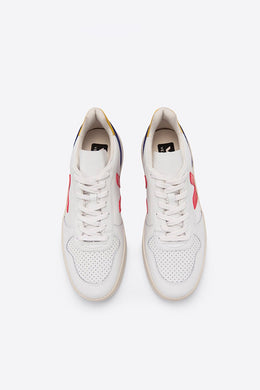 Veja - V-10 Leather Extra  White, Pekin Cobalt Tonic