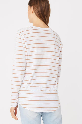 Assembly Label - Bay L/S Tee, Sandstone Stripe