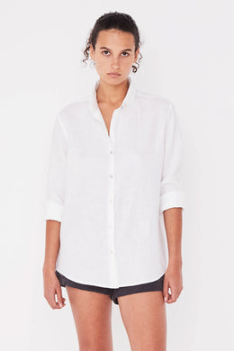 Assembly Label - Xander Longsleeve Shirt, White