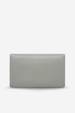 Status Anxiety - Audrey Wallet, Light Grey Pebble