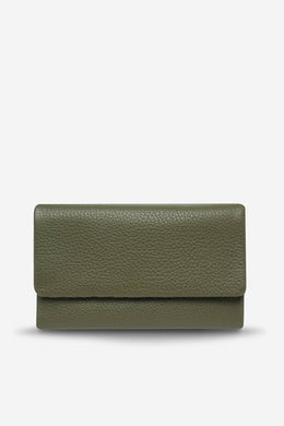 Status Anxiety - Audrey Wallet, Khaki Pebble