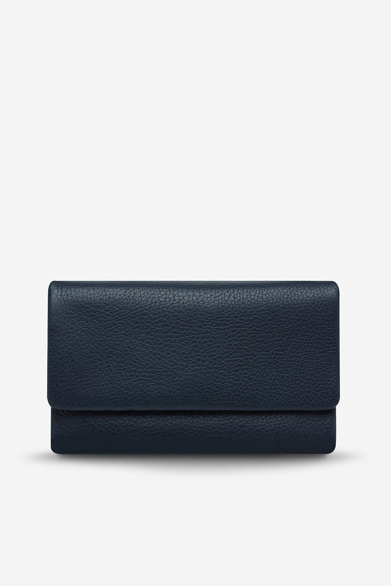 Status Anxiety - Audrey Wallet, Navy Pebble