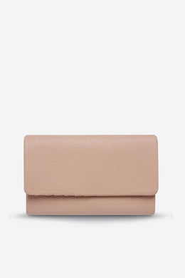 Status Anxiety - Audrey Wallet, Dusty Pink Pebble