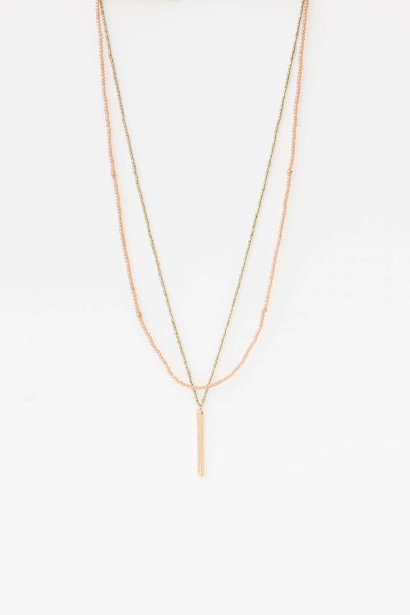 Stella + Gemma - Bead Wrap Necklace, Gold