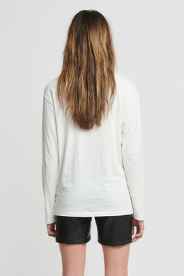 Stolen Girlfriends Club - Berate Fade Long Sleeve Tee, White